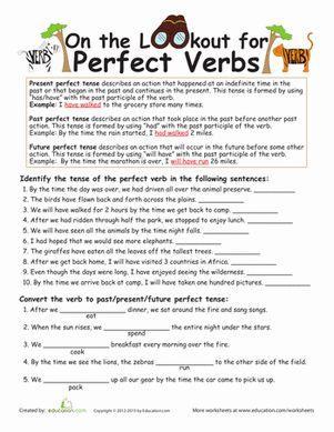 Worksheet Fifth Grade Grammar Worksheets the ojays parts of speech and fifth grade on pinterest grammar worksheets perfect verb tense worksheet