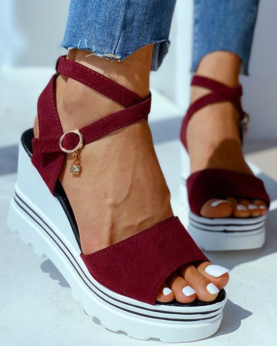 Details about  /New Women Round Toe Wedge Heel Zip Up Ankle Boots Suede Fabric Outdoor Bowknot D