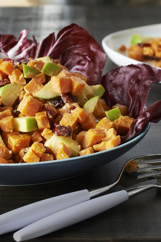 Slap winter in the face with our Roasted Sweet Potato Salad: http://bit.ly/1cUNRio!