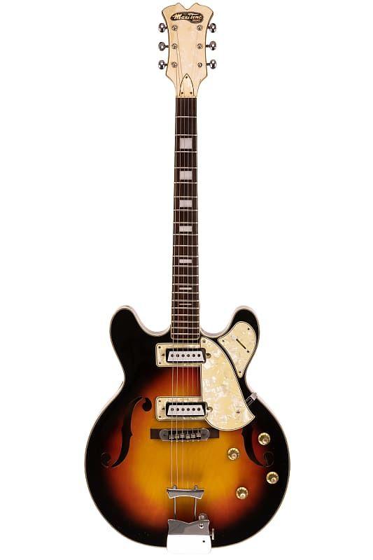 1960s Maxitone Bruno Semi Hollow Electric Vintage Japanese 31st Street Vintage Guitars Reverb Japanese Guitar Vintage Japanese Electricity