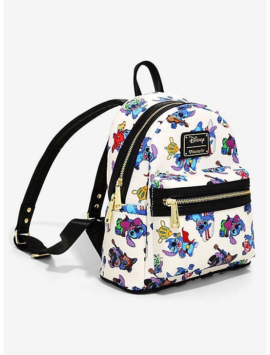 "Disney Lilo And Stitch 10/"" Small PU Backpack"