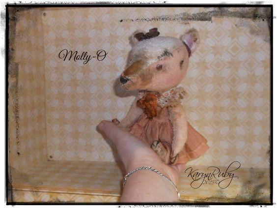 9 inch Molly-O'  ~   Vintage Style Viscose Bear by Artist KarynRuby - pinned by pin4etsy.com