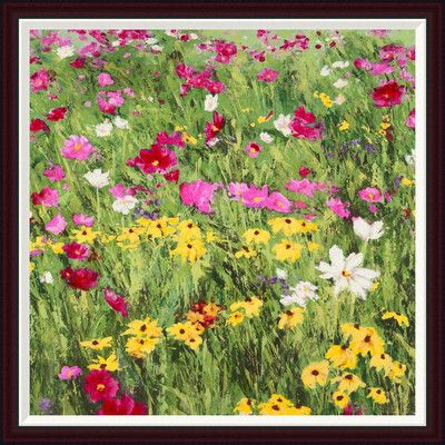 Global Gallery 'Country Flowers' by Silvia Mei Framed Painting Print on Canvas Size:
