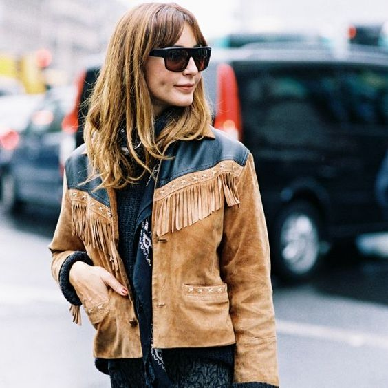 a fringed suede jacket is essential