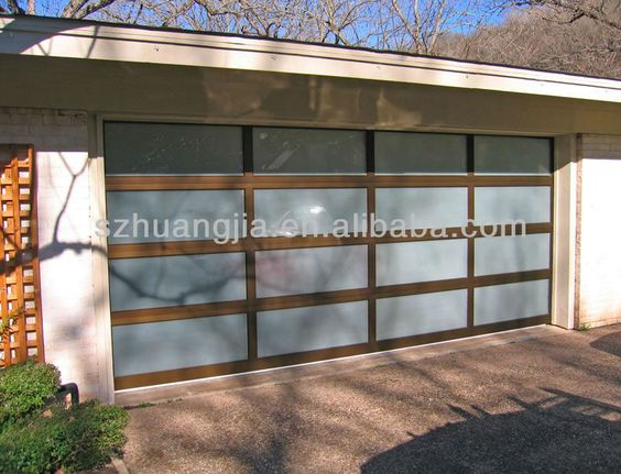 Anodized aluminum frame glass garage door prices lowes for 16x8 garage door lowes