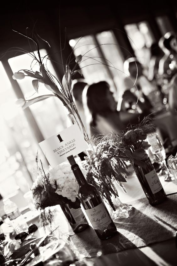 Wedding & Event Photography : Edgewater, MD. Loved the center pieces at this wedding! Every detail was a wine lovers dream.