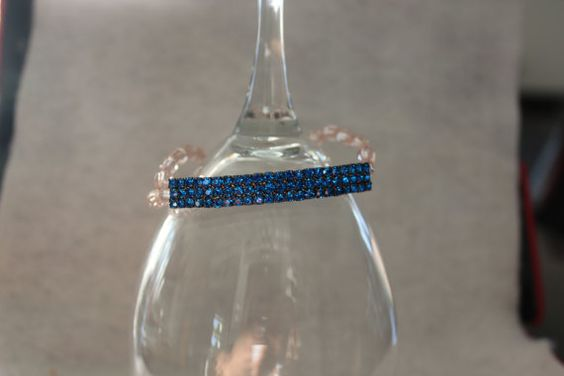 Rhinestone Bar Bracelet by NelliesTrinkets on Etsy, $13.00