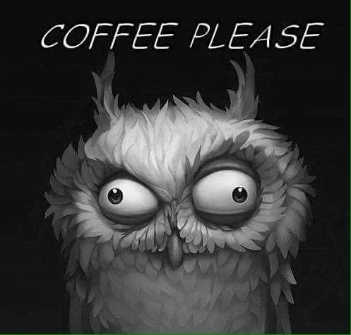 Funny Owl Drawing With Coffee Quote Funny Owls Owl Owls Drawing
