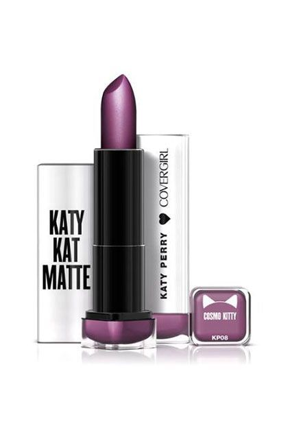 CoverGirl Katy Kat Matte Lipstick in Cosmo Kitty, $6.94, available for pre-order at Walmart.