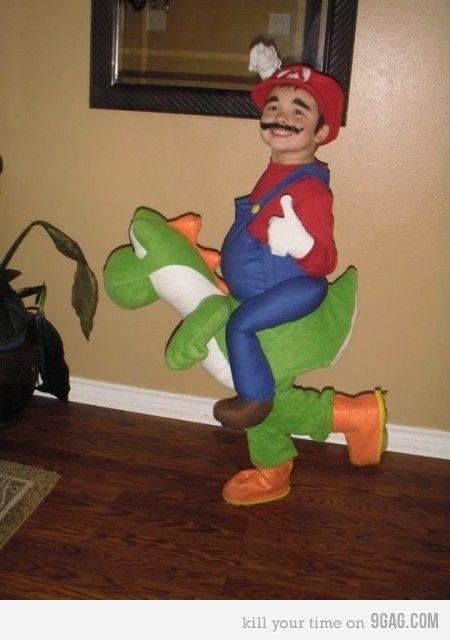 Mario & Yoshi costume @Amanda Ogden !