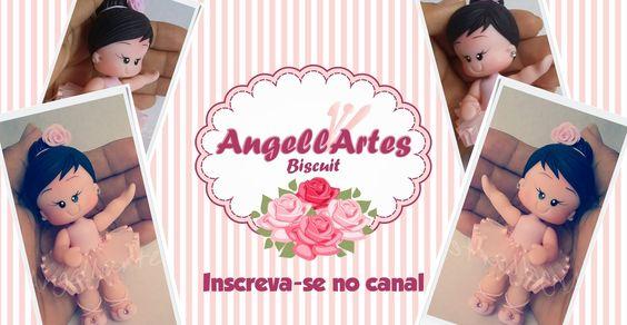Bailarina Fofinha Biscuit - AngellArtes - YouTube