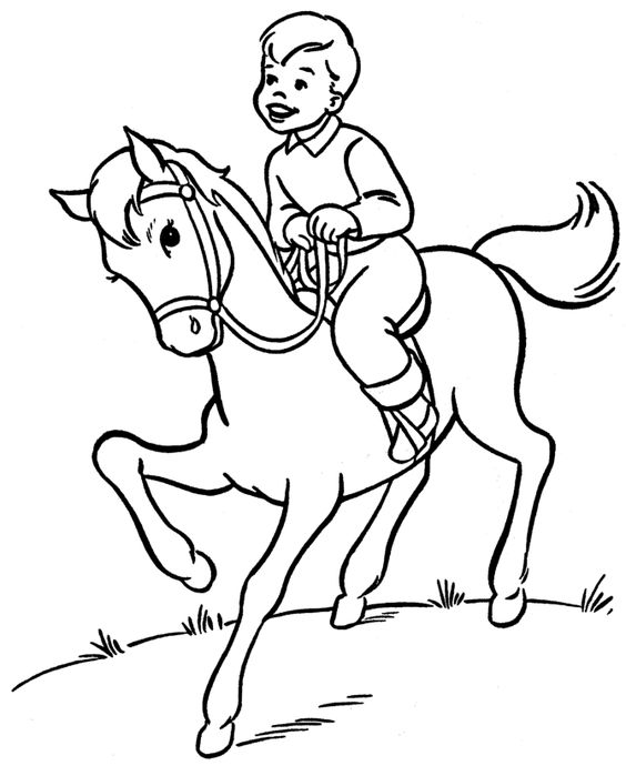 Fabulous Horse Jumping Coloring Pages 78 Horse coloring page boy