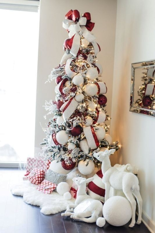 Christmas Tree Decoration Ideas 2018 43 Parent S Guide How To Choo Elegant Christmas Trees Elegant Christmas Tree Decorations White Christmas Tree Decorations