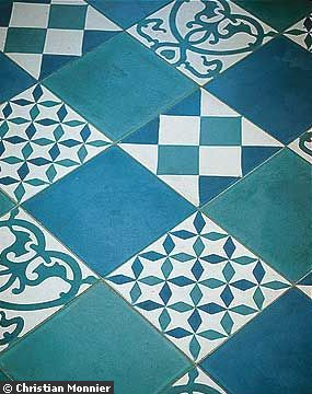 Des carreaux de ciment de toutes les couleurs patchwork vintage and parents - Carreaux ciment patchwork ...