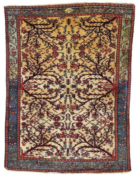 Persian Hamedan region Malayer rug, dated 1316 AH = 1899