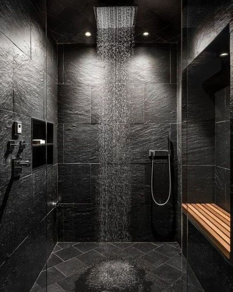 17 Cool Man Cave Bathrooms Interiorforlife Com Stone Tile Wall Man Cave Bathroom House In The Woods