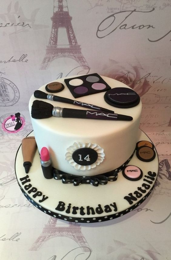 32 Creative Image Of 14 Year Old Birthday Cake Entitlementtrap Com 14th Birthday Cakes Make Up Cake 13 Birthday Cake