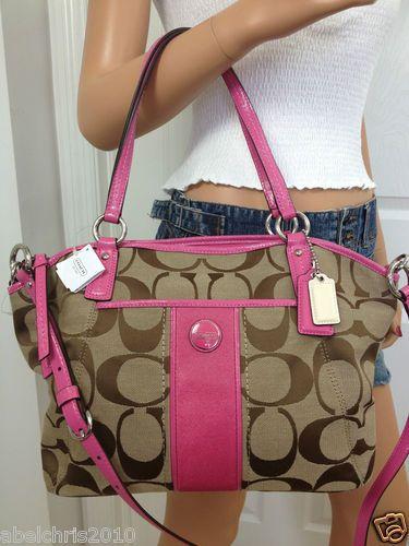 coach crossbody bag outlet 9t5p  pink coach shoulder bag