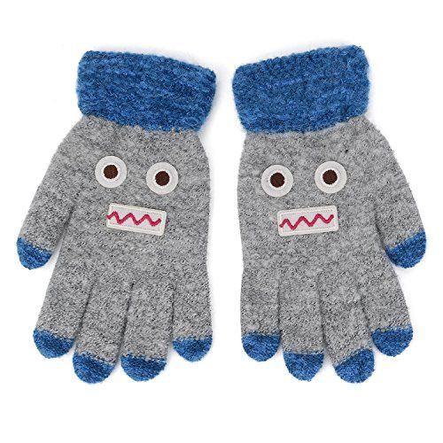 Zando Kids Winter Gloves for Baby Boys Girls Knitted Mittens Toddlers Full Fingers Magic Stretch Mittens Gloves