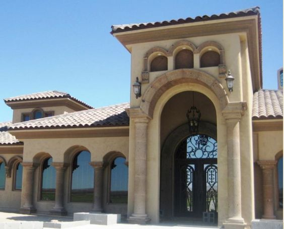 Columns Cast Stone And Window Door And Arch Surrounds Half