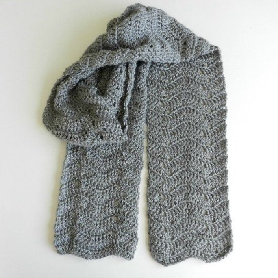 Chevron scarves, Winter and Free crochet on Pinterest