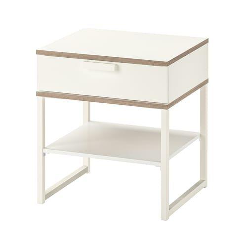 Vikhammer Table Chevet Noir 40x39 Cm Nachtkastje Ikea Slaapkamer
