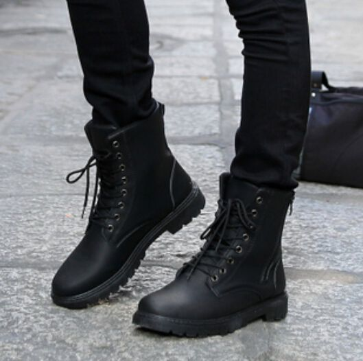 black boots and black jeans