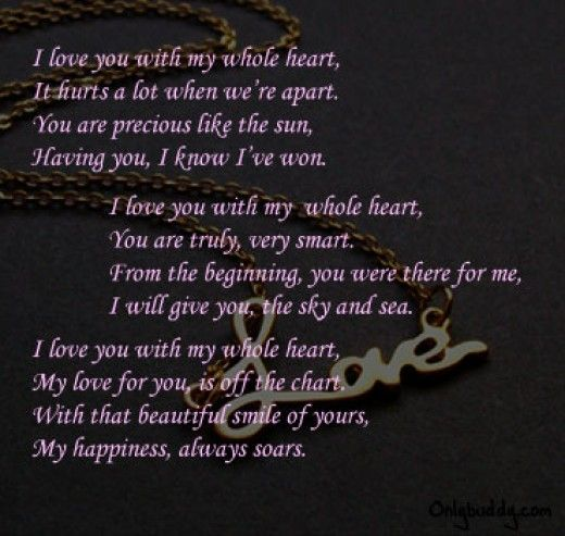 Long I Love You Poems For Him