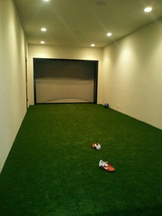 Built In Football Room Basement