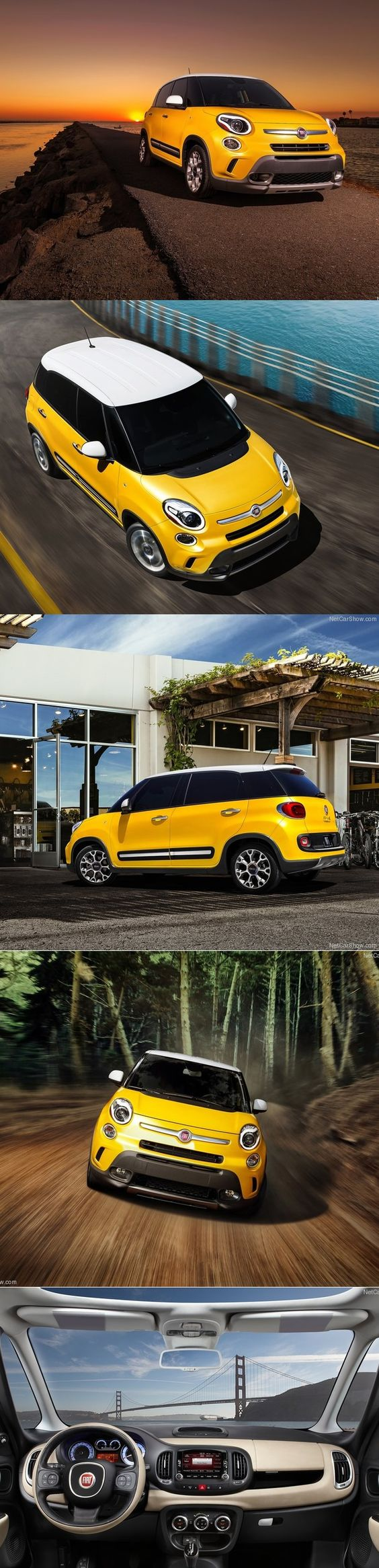 Novi Fiat 500L. #beautiful #500L #fiatlove #weloveyellow #yellow