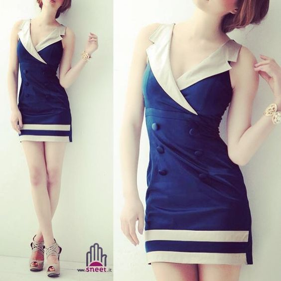 #navy #cute #sexy #dress #dreamshop #sneet #style #fashion #moda #tendenze #2014 #spring #summer #wear #street €49,90 shop online www.dream-shop.it