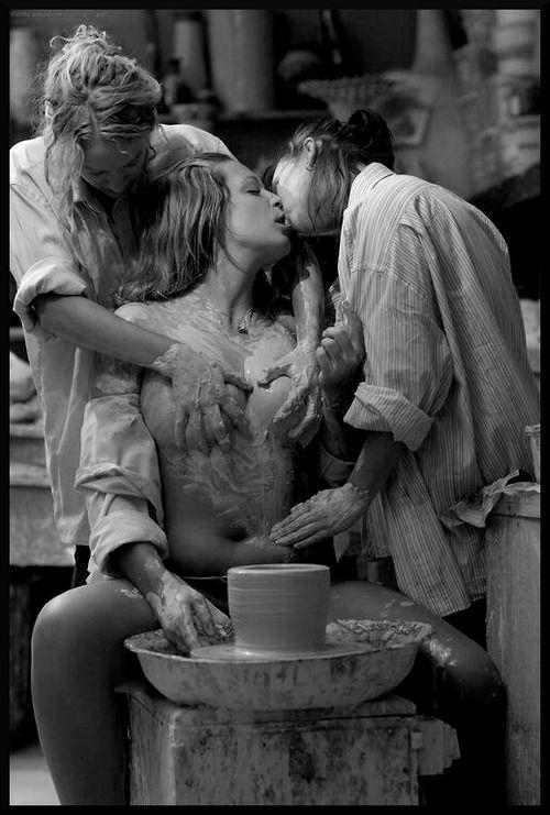 Vintage erotic art threesomes