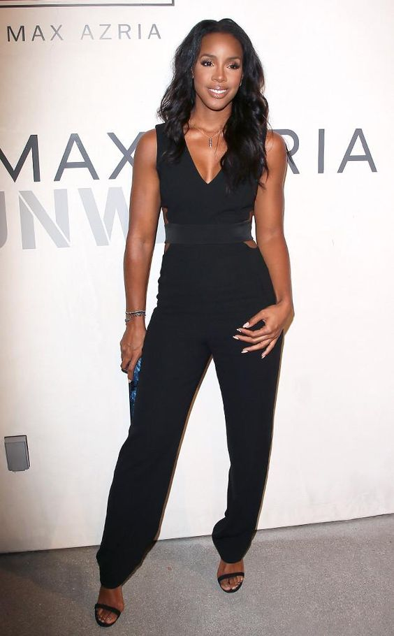 Kelly Rowland looks amazing in this cutout jumpsuit.