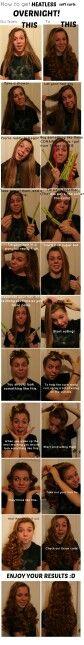 No heat curls