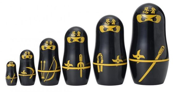 Ninja nesting dolls on Amazon