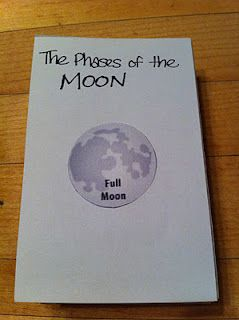 Foldables- Learn the phases of the Moon. To make this more interactive, students can draw the moon phases on their own.