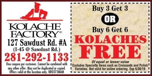 Kolache Factory Coupon