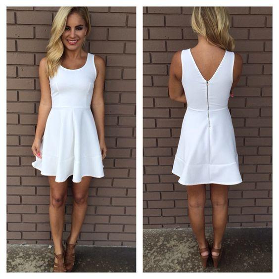 White Beaded &amp- Bow Back Dress - Bags- Graduation and Sundresses