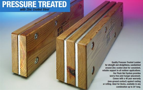 Flitch Beam Wood And Steel Into One Load Carrying Member