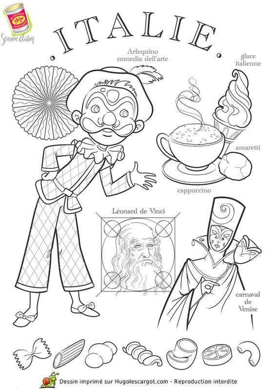 Coloriage Italie, page 16 sur 43 sur HugoLescargot.com