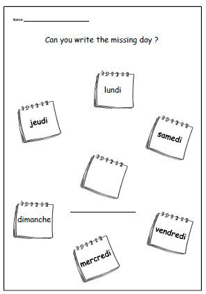 Number Names Worksheets : days of the week activities ks1 Days Of ...