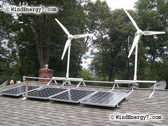 Wind Turbine Rooftops And Solar Panels On Pinterest