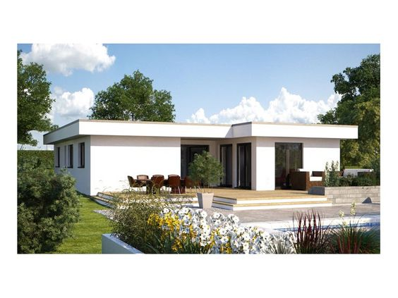 Fertighaus bungalow modern  Hommage 134 - #Einfamilienhaus von Hanlo Haus Vertriebsges. mbH ...