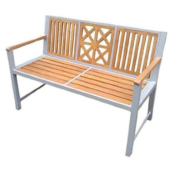 DC America Laguna Park Bench with Hardwood Slats - Take time to smell the roses you've cultivated by relaxing on this DC America Laguna Park Bench with Hardwood Slats . Plant this pretty and practical...