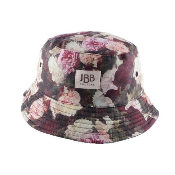 Bob JBB Couture Tissu imprimé Fleur Rose  #bob #mode #fashion #bonplan dans votre Boutique Headwear @hatshowroom