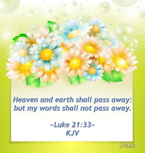 Luke 21:33 KJV ✝: