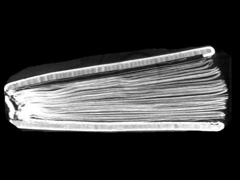 CT scan of the St Cuthbert Gospel
