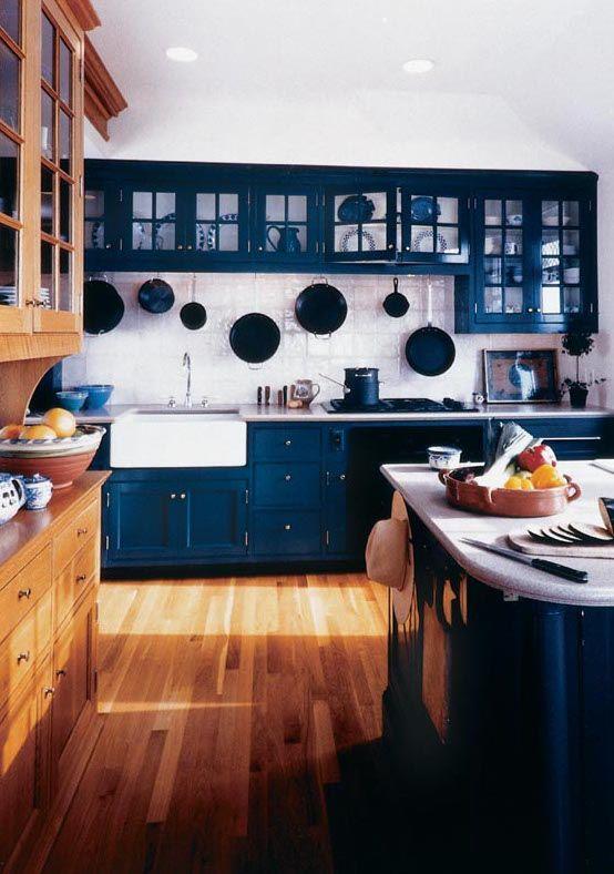 Cobalt Blue Kitchen Cabinets, Paint Kitchen Cabinets Dark Blue