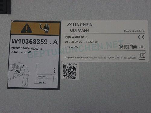 Bếp từ Munchen GM6640 IN sản phẩm mới nhất của Munchen 2018