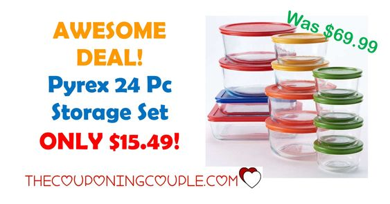 Pyrex 24 Pc Storage Set ONLY $15.49! | Awesome, Posts And Cooking